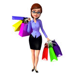 Young girl with shopping bags Stock Images