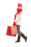 Young girl with shopping bags Stock Image