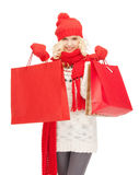 Young girl with shopping bags Royalty Free Stock Photography