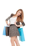 Young girl with shopping bags Royalty Free Stock Image