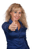 Young girl show the thumb Royalty Free Stock Image