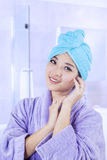 Young girl after a shower Royalty Free Stock Photography