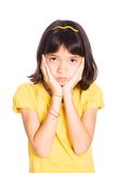 Young girl showing emotion of sadness Stock Image