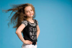 Young girl showing her hair in motion Royalty Free Stock Photos