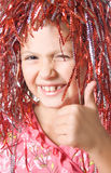 Young girl showing thumb up Royalty Free Stock Photos