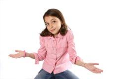 Young Girl shrugging shoulders Stock Photos