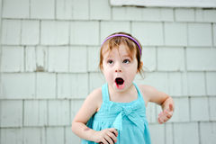 Young girl with silly face Royalty Free Stock Images