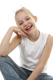 Young girl sitting Royalty Free Stock Images