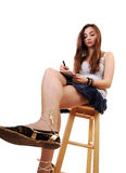 Young girl sitting. Stock Image