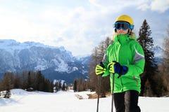 Young girl with ski Stock Image