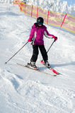 Young girl skiing Stock Image