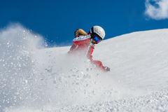 Young girl skiing Royalty Free Stock Images