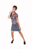 Young girl in skirt. Royalty Free Stock Photos