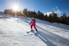 Young girl on skis Royalty Free Stock Photography