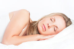 Young girl sleeping Stock Photos