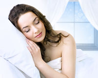 Young girl sleeping Stock Images