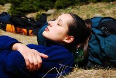 young girl sleeping  Stock Images