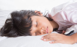 Young Girl Sleeping II Stock Photos
