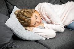 Young girl sleeping Stock Image