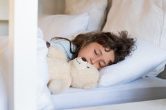 Young girl sleeping Royalty Free Stock Photography