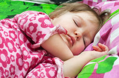 Young Girl sleeps Royalty Free Stock Photo