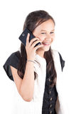 Young girl with smart phone Royalty Free Stock Photography