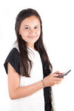 Young girl with smart phone Royalty Free Stock Image