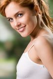 Young girl, smiling royalty free stock photography