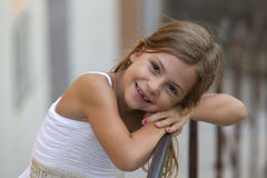Young girl smiling Stock Images