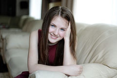 Young girl smiling Royalty Free Stock Image