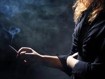 Young girl smoking Stock Photo