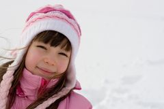 Young Girl On Snow Royalty Free Stock Photography