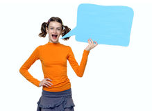 Young Girl speaking Stock Image
