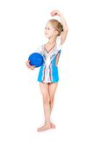 Young girl with sport ball Stock Photography