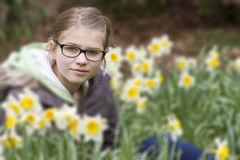 Young girl in spring park - portrait. Young girl in spring park Stock Image