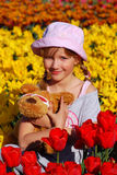 Young girl  in spring time Stock Image