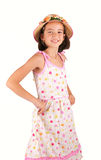 Young girl in springlike cloth Stock Photography