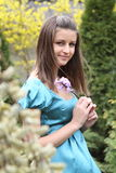 Young girl in the springtime Stock Photo