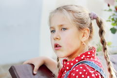 Young Girl with Staring Sight Stock Photography