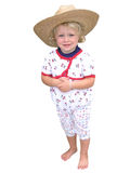 Young Girl in Straw Hat Royalty Free Stock Photography