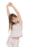 Young girl stretches himself Royalty Free Stock Photos