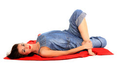 Young girl stretching Stock Photography