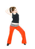 A young girl stretching Stock Images
