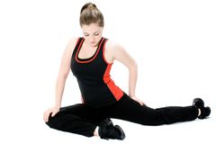 Young Girl Stretching Royalty Free Stock Photos