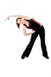 Young Girl Stretching Royalty Free Stock Image
