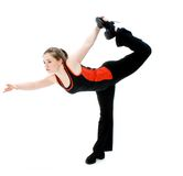 Young Girl Stretching Royalty Free Stock Photography