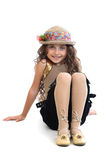Young girl striking a pose Stock Photography