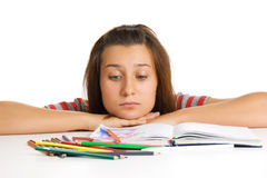 Young girl student Royalty Free Stock Photos