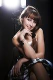 Young girl at studio Royalty Free Stock Image