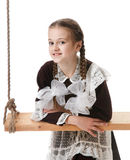 Young girl at studio Stock Photography